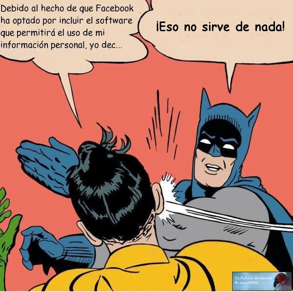 meme batman privacidad Facebook