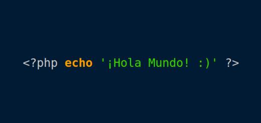 """Ejemplo de un """"Hola mundo"""" en PHP"""