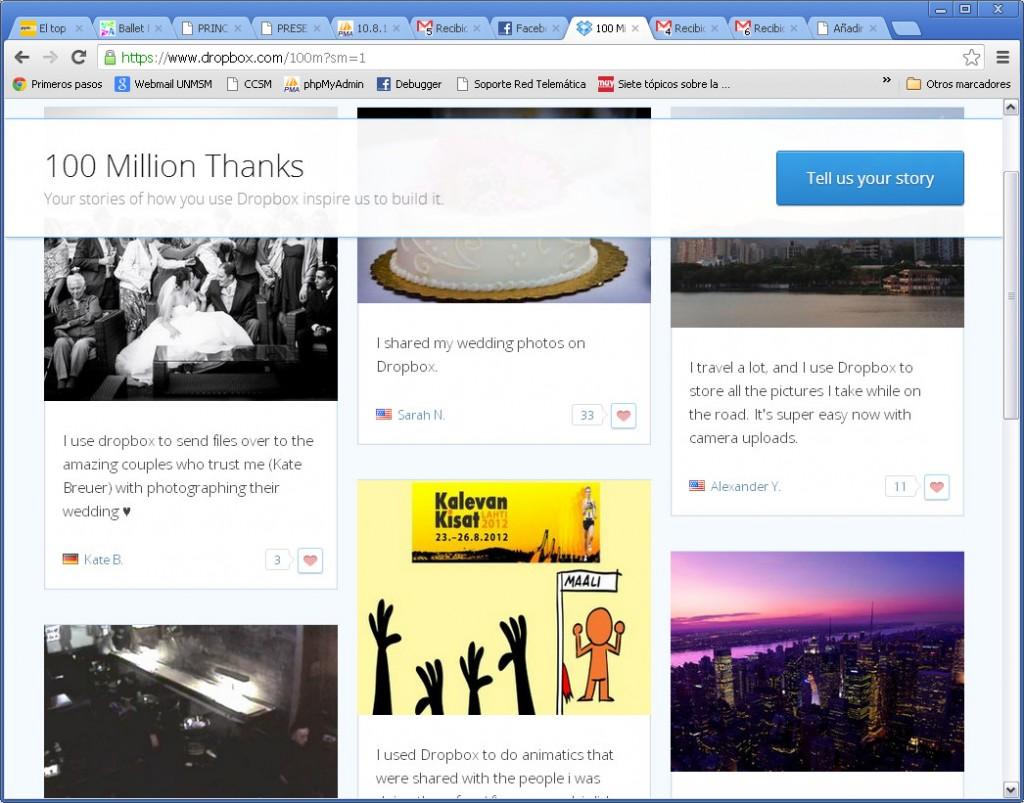 Dropbox - 100 Million Thanks