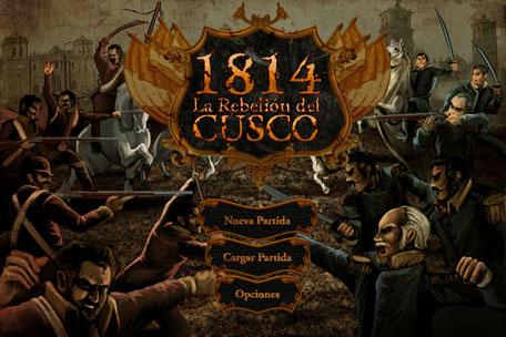 Pantalla inicial del videojuego 1814: La rebelión del Cusco