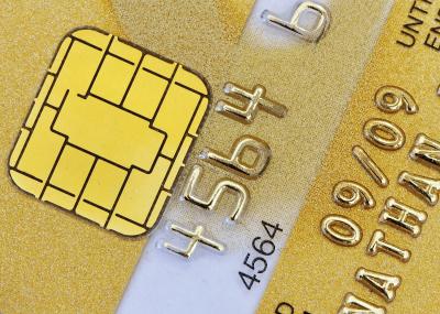 Tarjeta de banco con chip