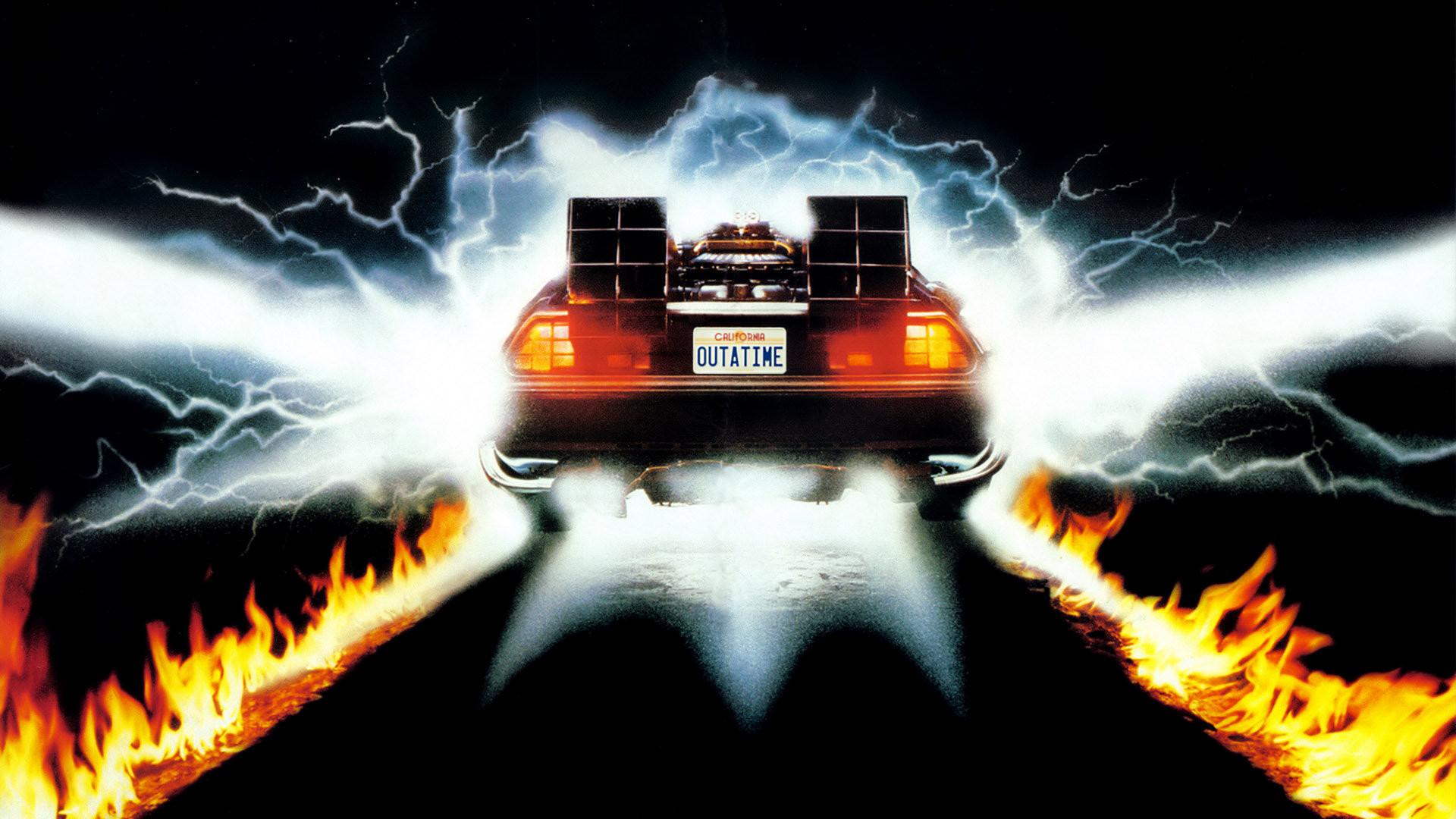 La máquina del tiempo DeLorean en Volver al futuro