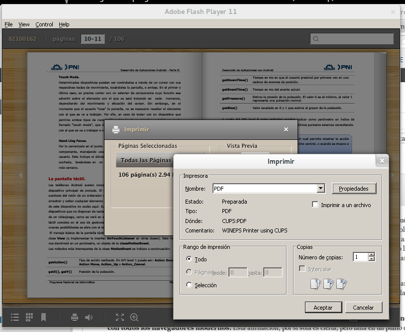 Imprimir manual desde Publ.com en Linux con Wine