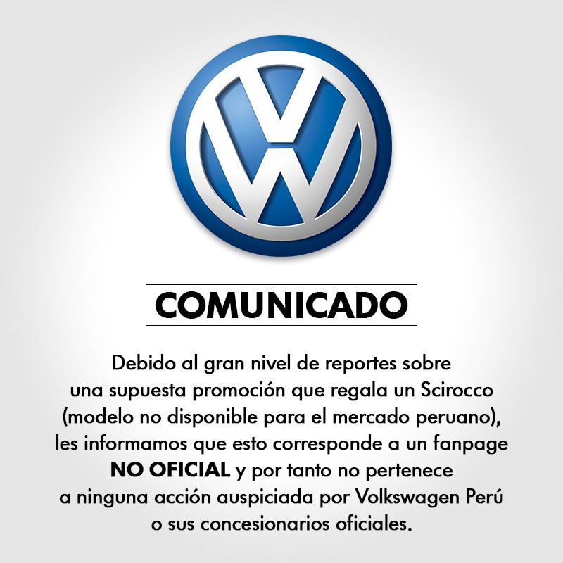 Comunicado Volkswagen falso sorteo