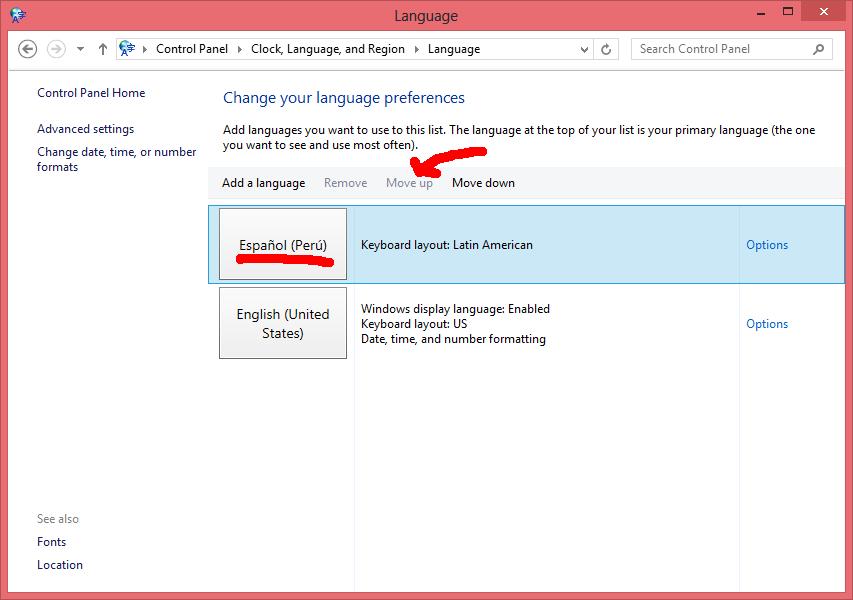 Poner Windows 8 en español - Paso 6