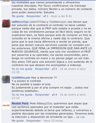 Algunas quejas de usuarios de Nextel tras desactivación de Prip