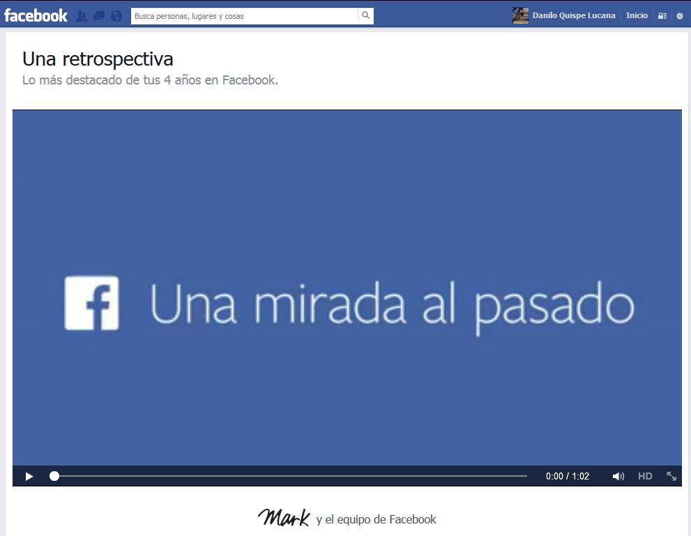 Retrospectiva: Un video por los 10 años de Facebook