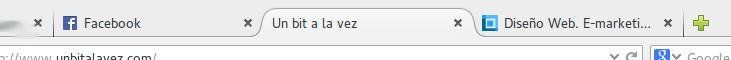 Pestañas en Firefox 29 (GNU/Linux GNOME)