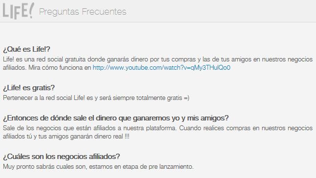 Life! - Preguntas frecuentes