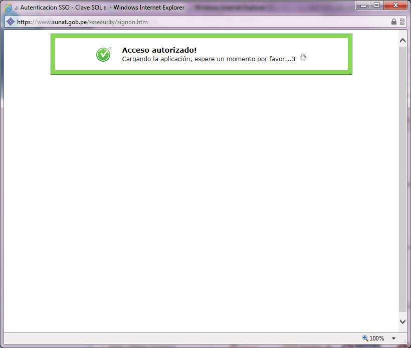 Inicio de sesión trabado en SOL para pagos en Internet Explorer 11 (sin vista de compatibilidad)