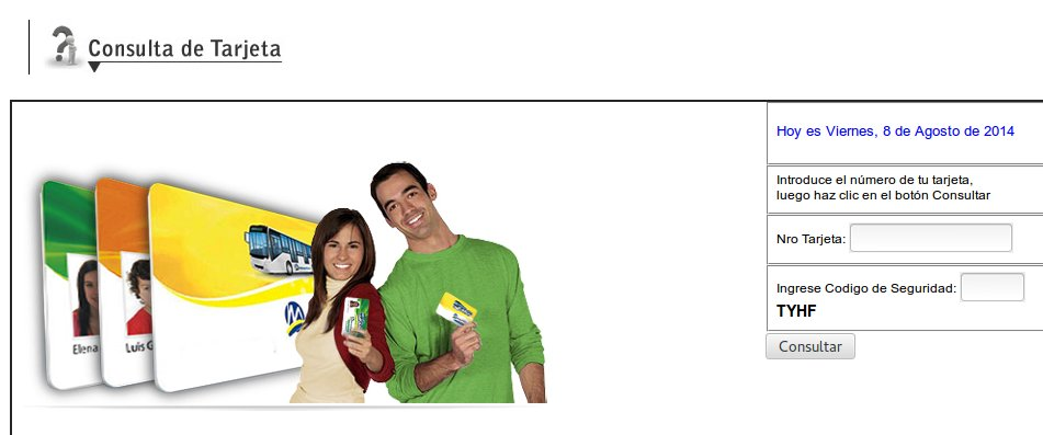 Formulario de consulta de tarjeta del Metropolitano 02