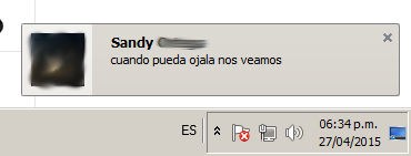 Notificación de escritorio de Messenger.com en Firefox para Windows