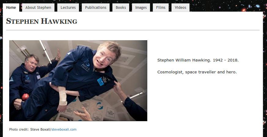 Stephen Hawking anuncio fallecimiento web