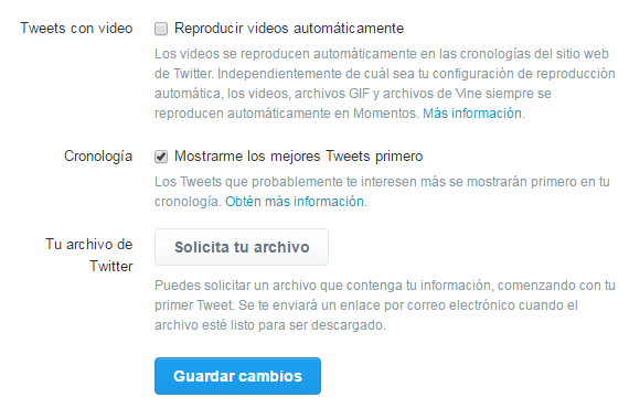 Desactivar reproducción automática de videos en Twitter (web)