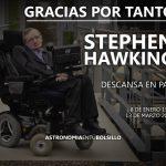 Gracias por tanto Stephen Hawking