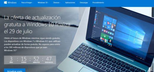 Cuenta regresiva para actualizar gratis a Windows 10