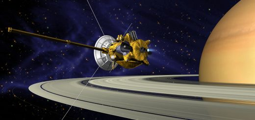 Cassini entrando a la órbita de Saturno