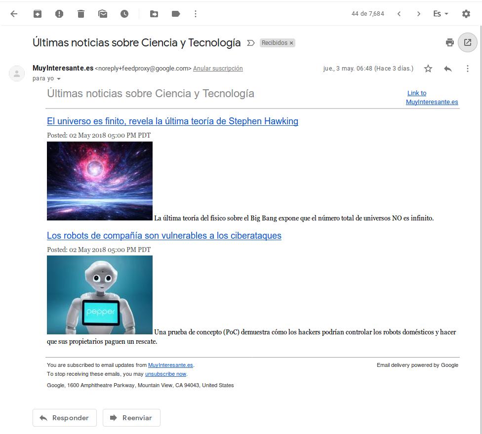 Lectura de mensaje en Gmail