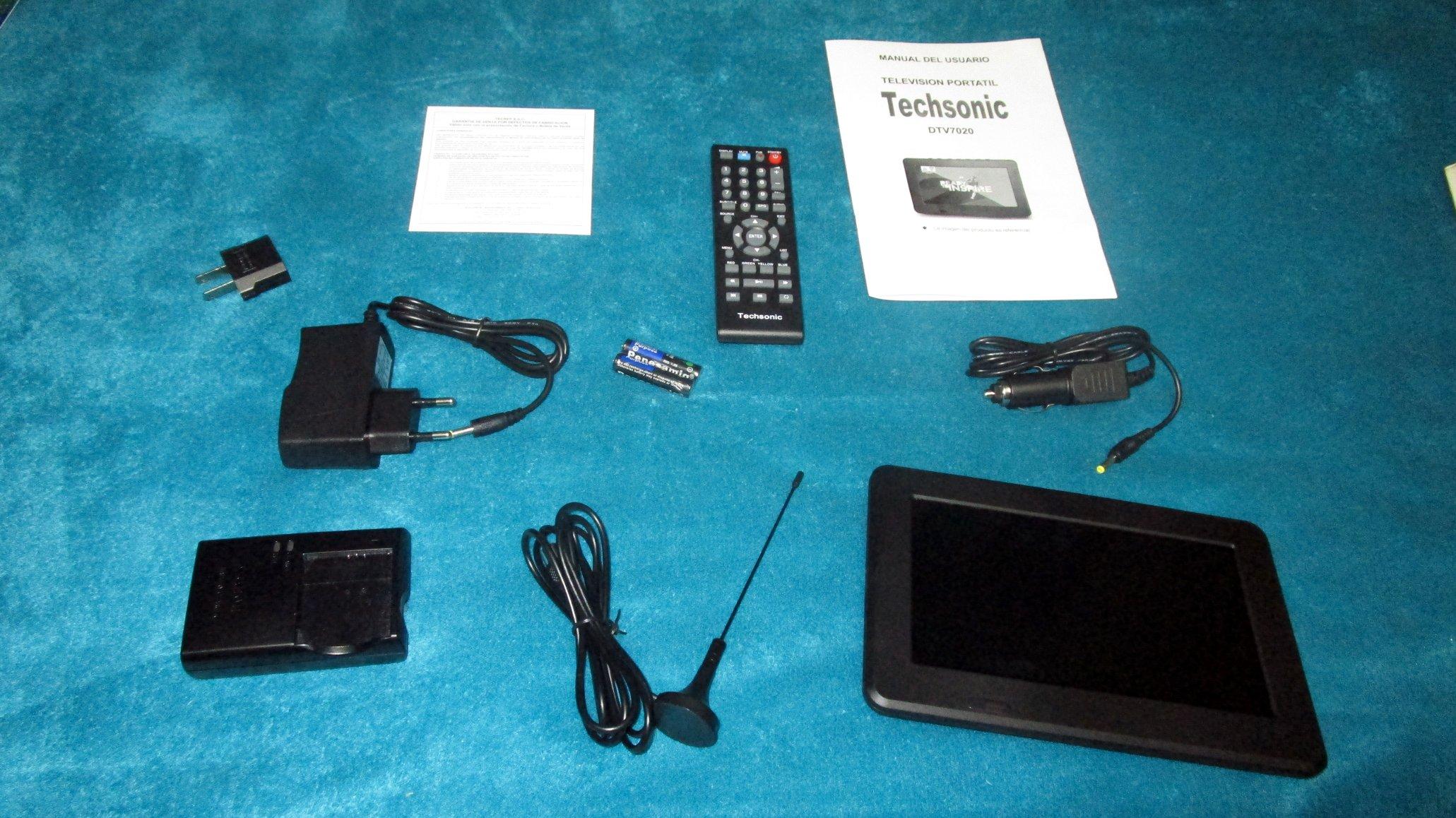 TV portátil Techsonic DTV7020 - Contenido de la caja