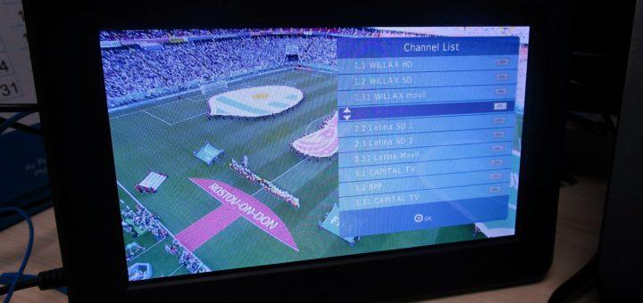 TV portátil Techsonic DTV7020 - lista de canales y señal de TV digital