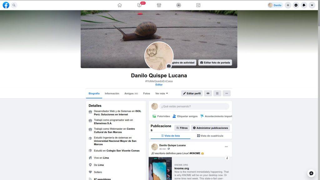 Nuevo diseño de perfil de Facebook