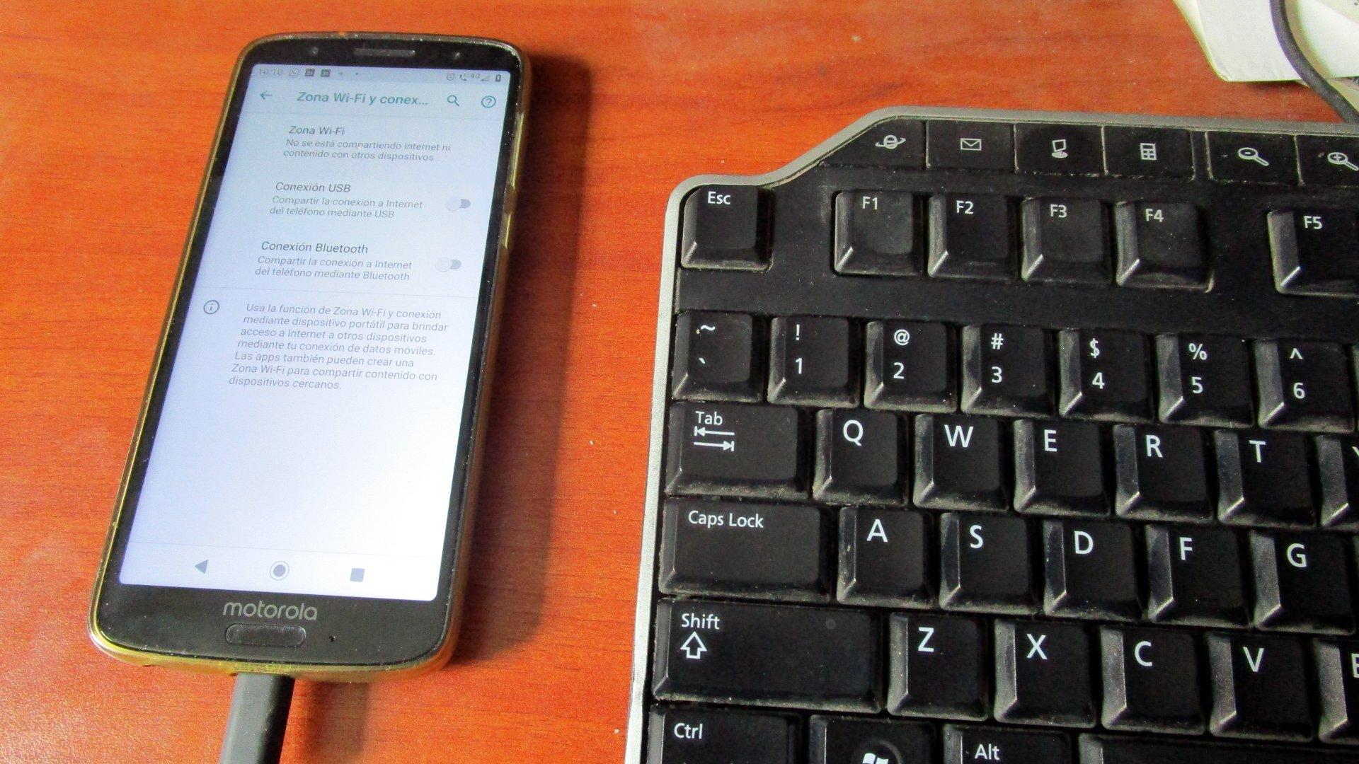 Opciones de compartir Internet (tethering) en Android 9 Pie