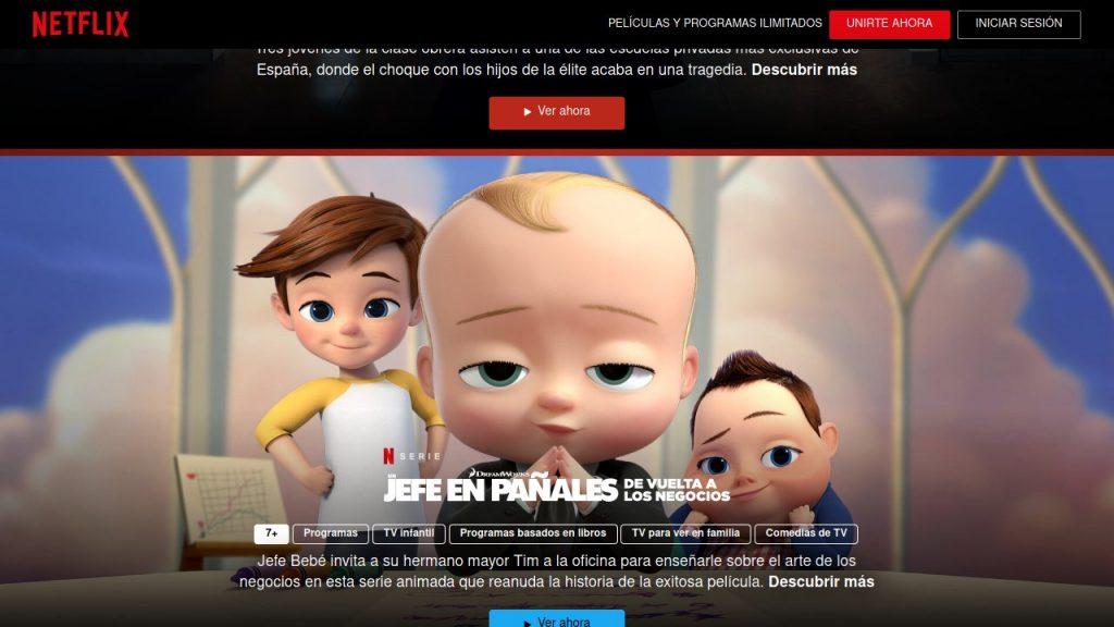 Catálogo gratuito de Netflix